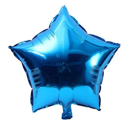 5 pcs 18 inch Foil Star Balloon Helium Metallic Birthday Summer outdoor Party - Party Shop Helium Balloons