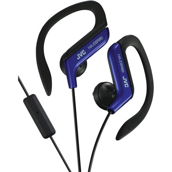 Sport-Clip In-Ear Ear-Clip Headphones-Microphone - Remote -Blue