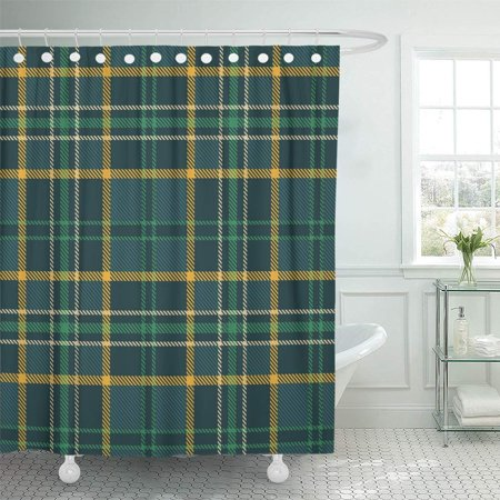 XDDJA Blue Plaid Tartan Checkered Green Yellow Beige Teal Colorful Shower Curtain 60x72 inch - image 1 of 1