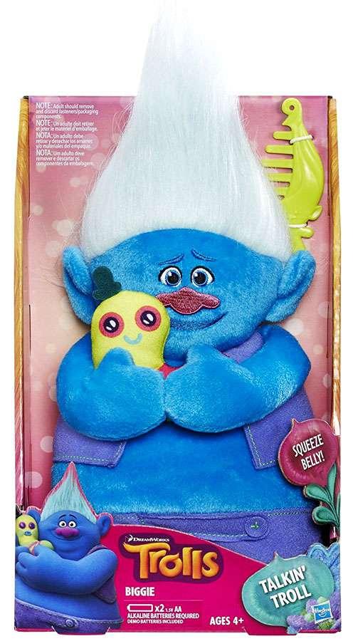 DreamWorks Trolls Biggie Talkin' Troll Plush Doll by HASBRO INTERNATIONAL TRADING B V