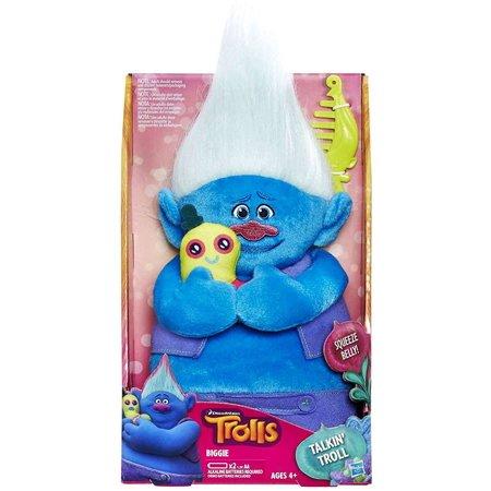 DreamWorks Trolls Biggie Talkin' Troll Plush Doll - Trolls Dreamworks
