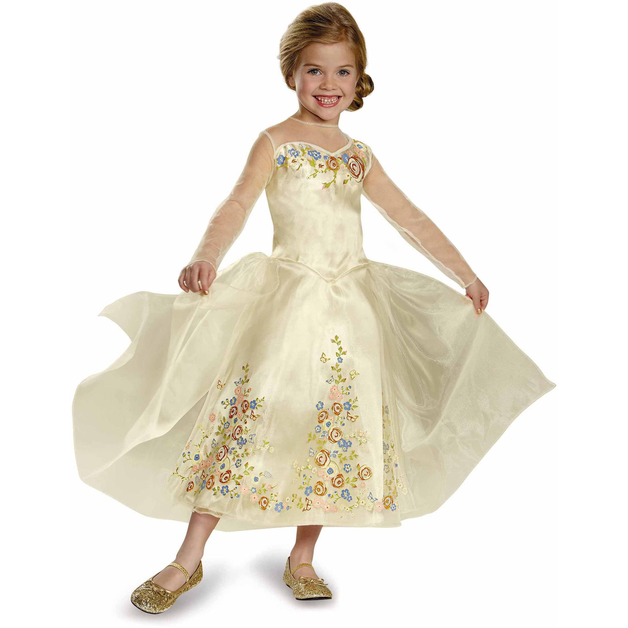 Cinderella Movie Cinderella Wedding Dress Deluxe Child Halloween Costume