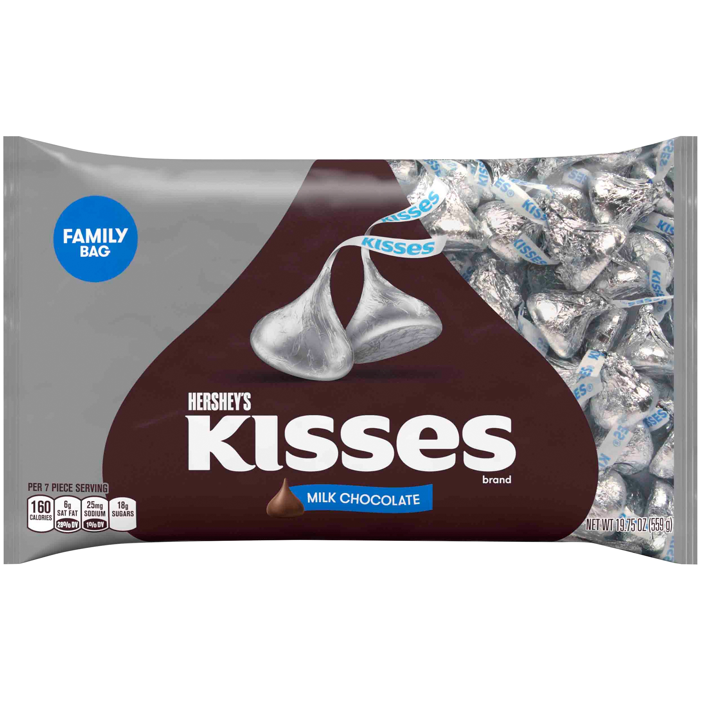 Kisses, Milk Chocolate Candy, 19.75 Oz