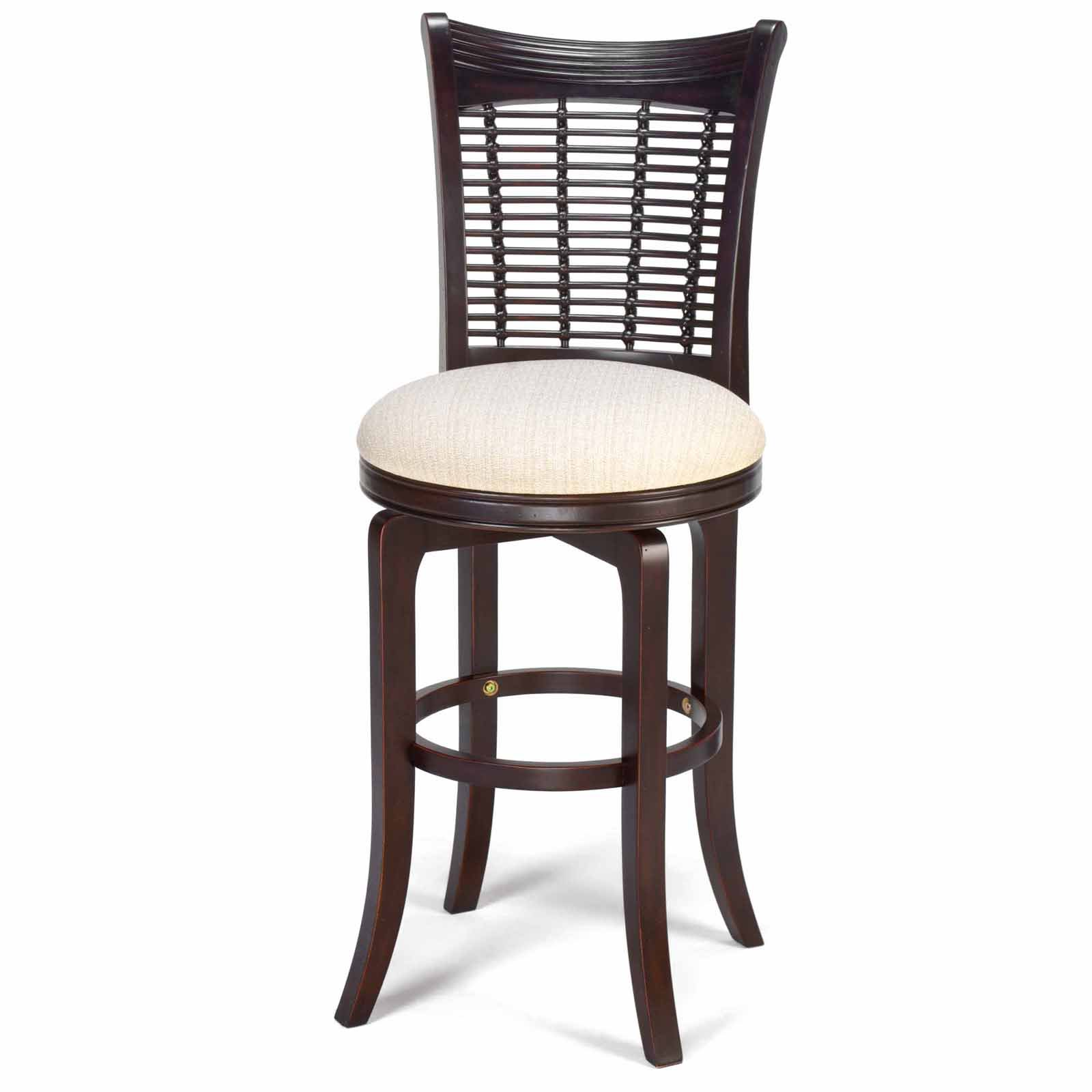 Hillsdale Bayberry Swivel Barstool Dark Cherry