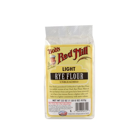 Bobs Red Mill Unbleached Rye Flour Light 22 Oz Walmart Com