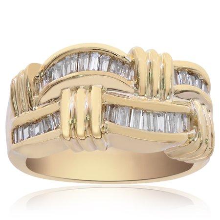 0.75 Carat Baguette Cut Channel Setting Diamond Ring 14K Yellow Gold Baguette Diamond Ring Setting Mounting