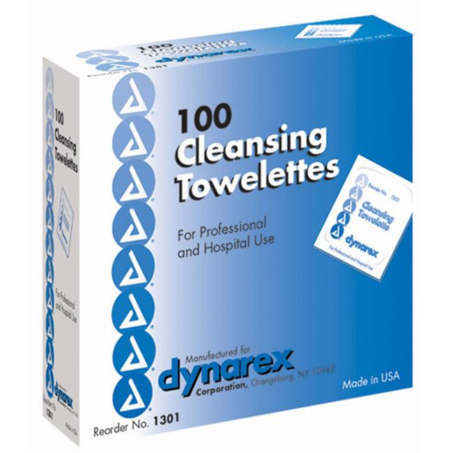 Towellette Cleansing - Box of 100 5 x7 - 3043
