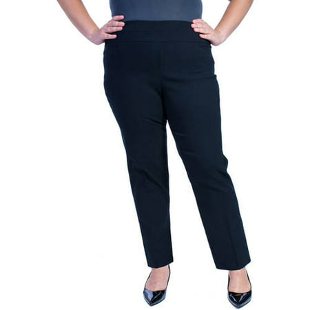 8a555208505a6 George - Women s Plus-Size Millennium Suiting Pull-On Pant - Walmart.com