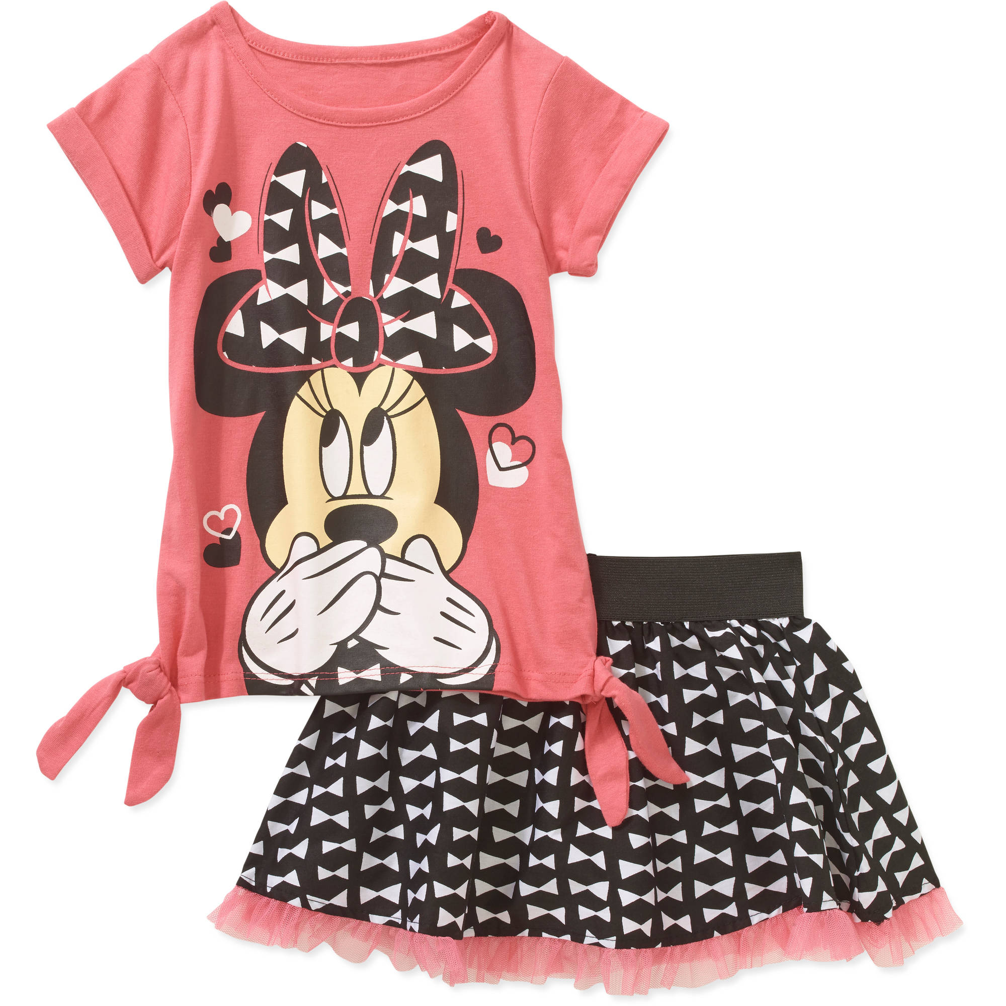 Minnie Mouse Toddler Girls' Tee and Scooter Set