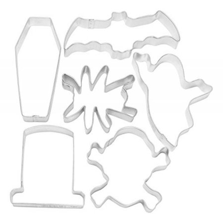R & M International 1807 Halloween Scary 6-Piece Cookie Cutter Set (Halloween Decorating Ideas For Cookies)