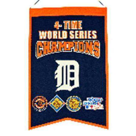 Winning Streak Sports 30521 Banni-re des champions du monde - 4 temps de Detroit Tigers - image 1 de 1