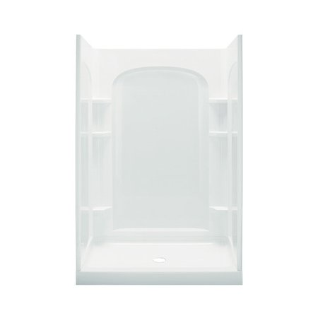 Sterling Ensemble White 4-Piece Alcove Shower Kit (Common: 34-In X ...