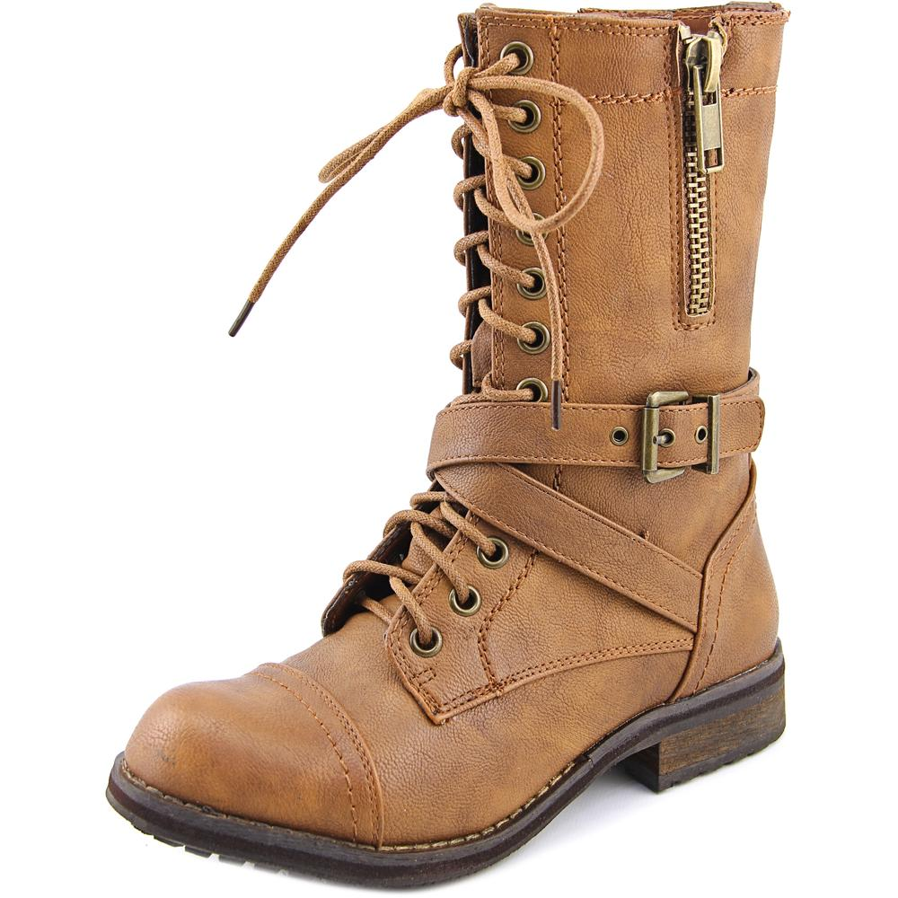 Bull Boxer Justice   Round Toe Synthetic  Mid Calf Boot
