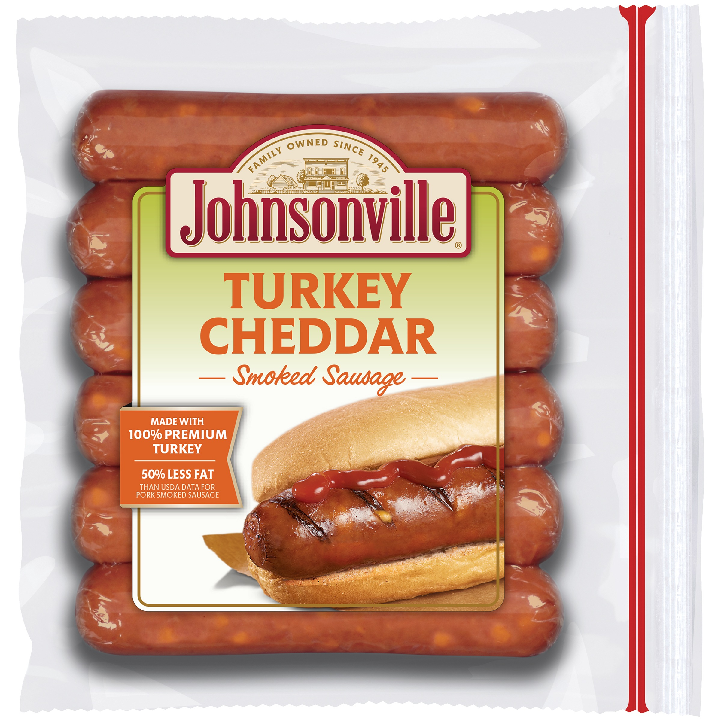 Johnsonville Smoked Turkey with Cheddar Sausage 13.5oz zip pkg (100572) by Johnsonville Sausage, L.L.C.