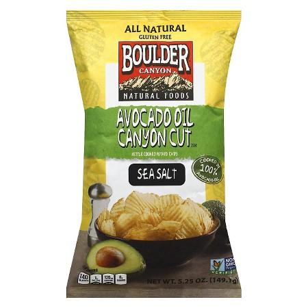 BOULDER Avocado Oil Canyon Cut Seasalt Potato Chips - 5.2...