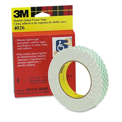 3m 4026 Scotch Foam Mounting Double Sided Tape 1 Quot Wide