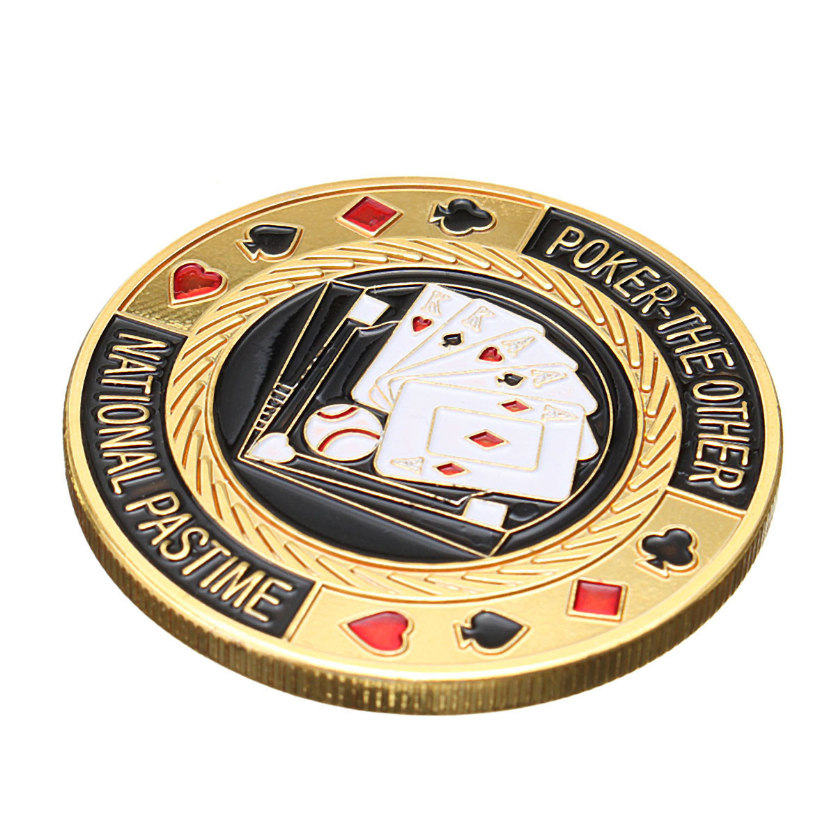 TEXAS Poker Card Guard Cover Protector Holder Casino Token Coin Chips Gold  ! !
