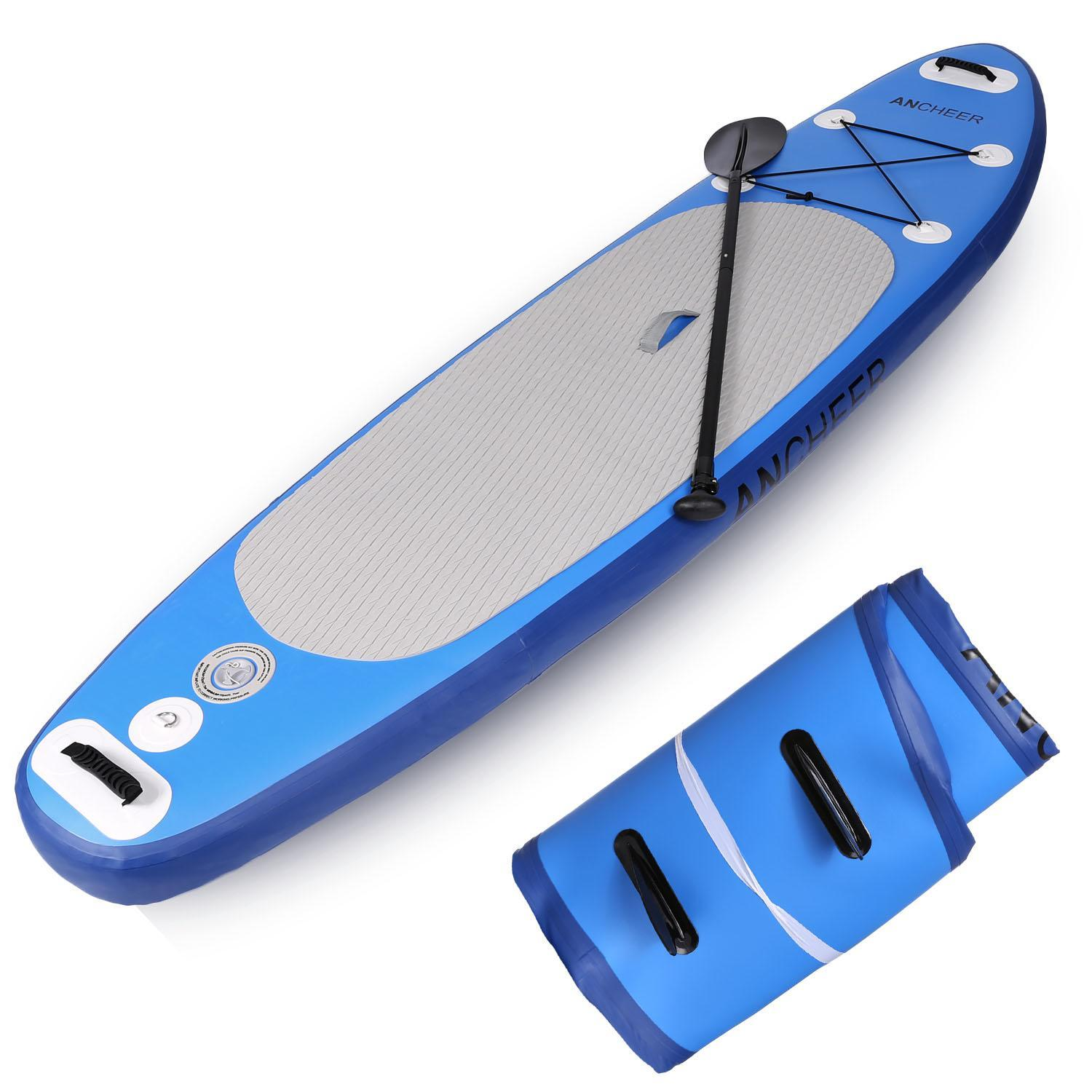 """Clearance&Sale!!! Hifashion 10' 6"""" Inflatable Stand Up Paddle Board SUP w/ Adjustable Paddle Travel Backpack,Blue Sup Inflatable Paddle Boards"""
