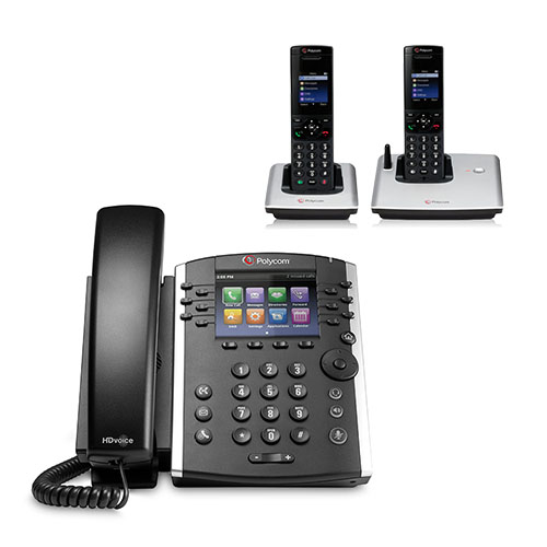 Polycom VVX 400 (2200-46157-025) 12-line Mid-Range Business Media Phone with Color Display