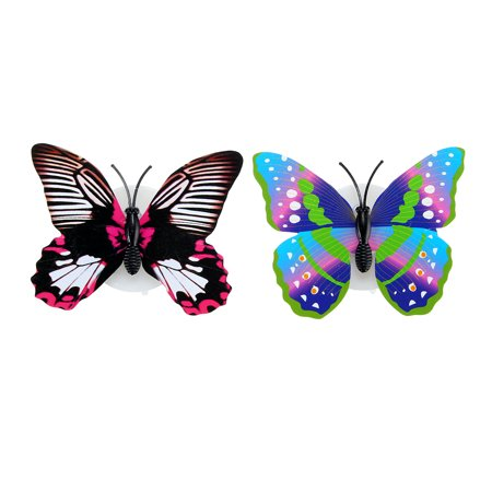 Fashion LED Glowing 3D Butterfly Night Light Sticker Art Design Mural Home Wall Decal  - image 3 of 12