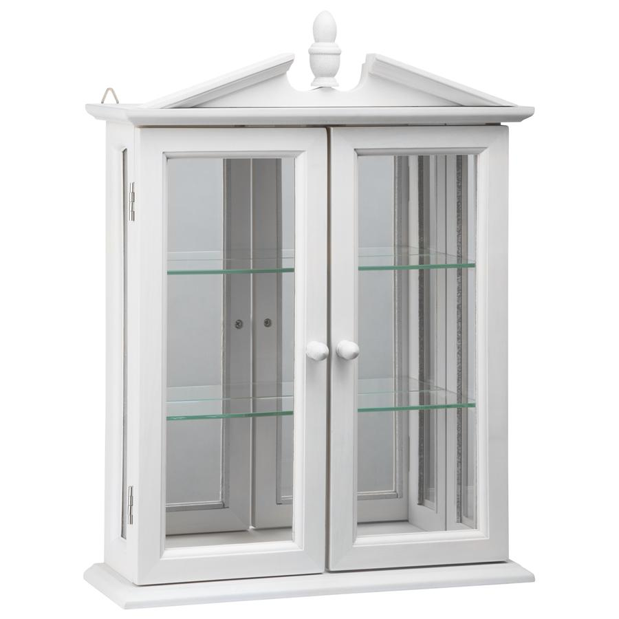 Amesbury Manor Hardwood Wall Curio Cabinet: Lily White Finish