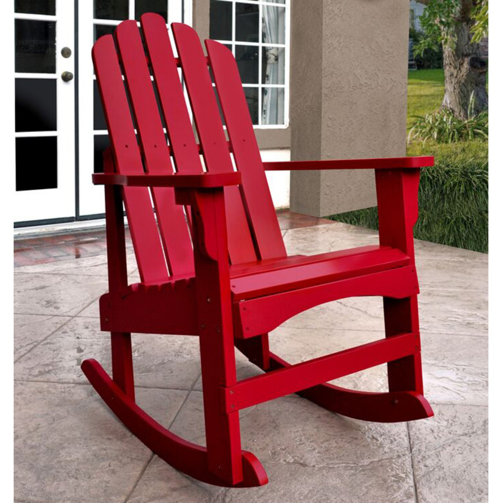 Shine Company Marina Porch Rocker - Chili Pepper