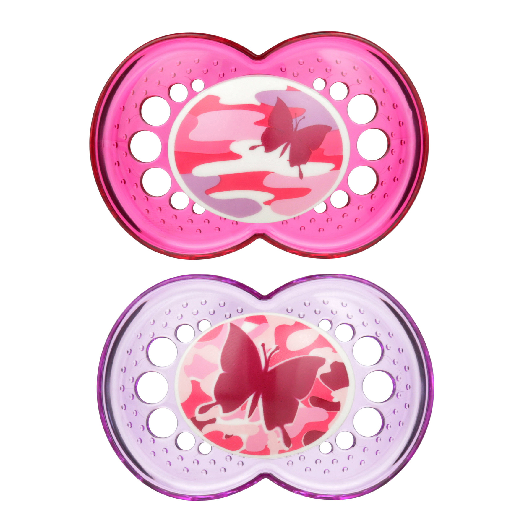 MAM Camo Collection Pacifiers, 16+ Months, Pink Camo - 2 Counts