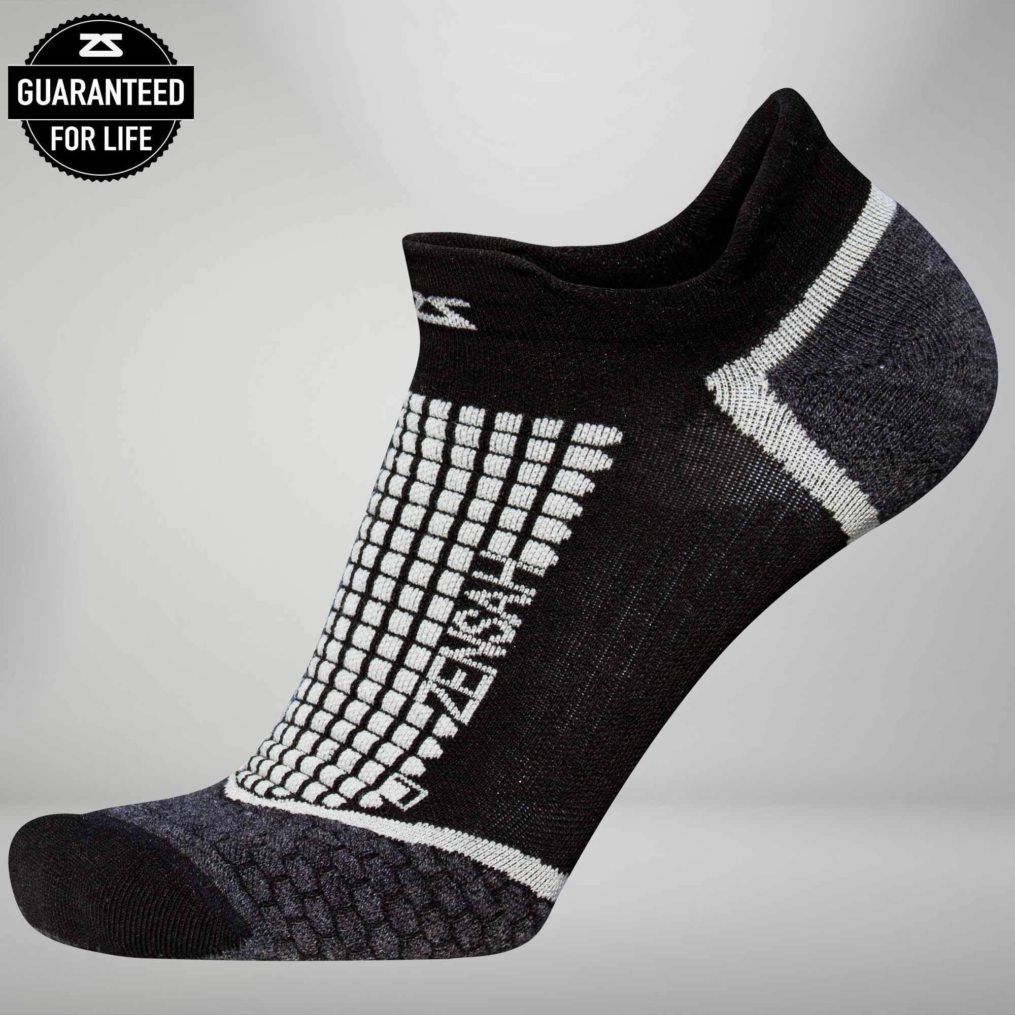 Grit Running Socks ™ (No-Show) L / Black