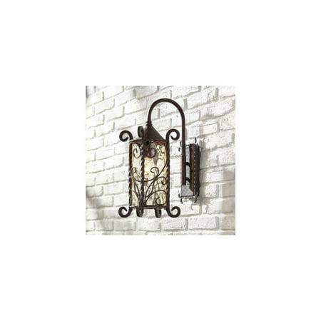 John Timberland Rustic Outdoor Wall Light Fixture Dark Walnut Iron Twists 18 1/2