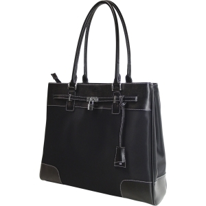MOBILE EDGE - MADISON TOTE - 15.4IN - MICROFIBER - BLACK ,MICROFIBER W/ FULL GRA