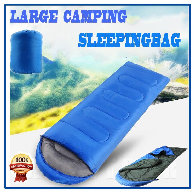2017 New Large Single Sleeping Bag Warm Soft Adult Waterproof Camping Hiking