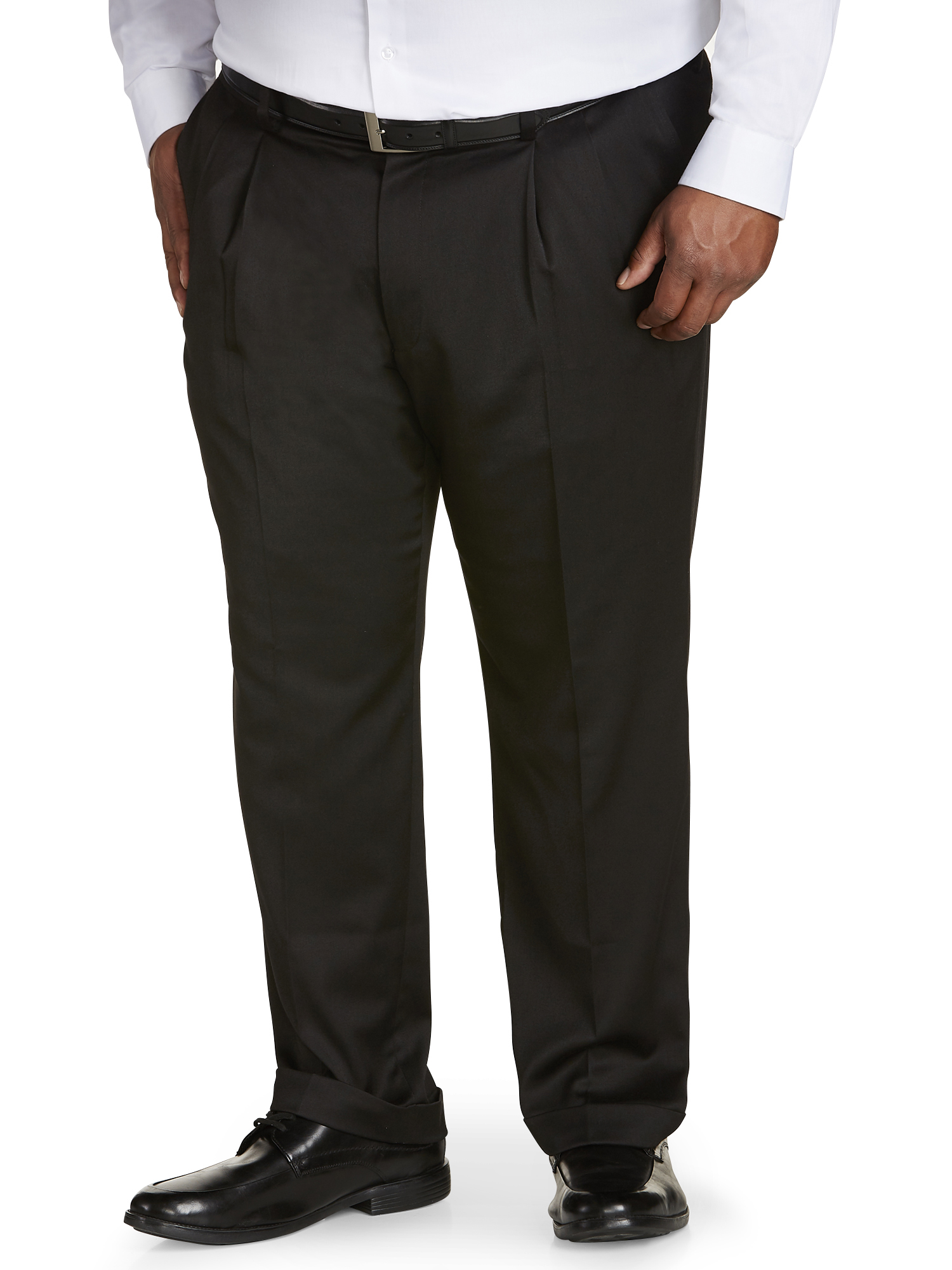 Canyon Ridge Big Men's Pleated Sateen Dress Pant, up to size 62