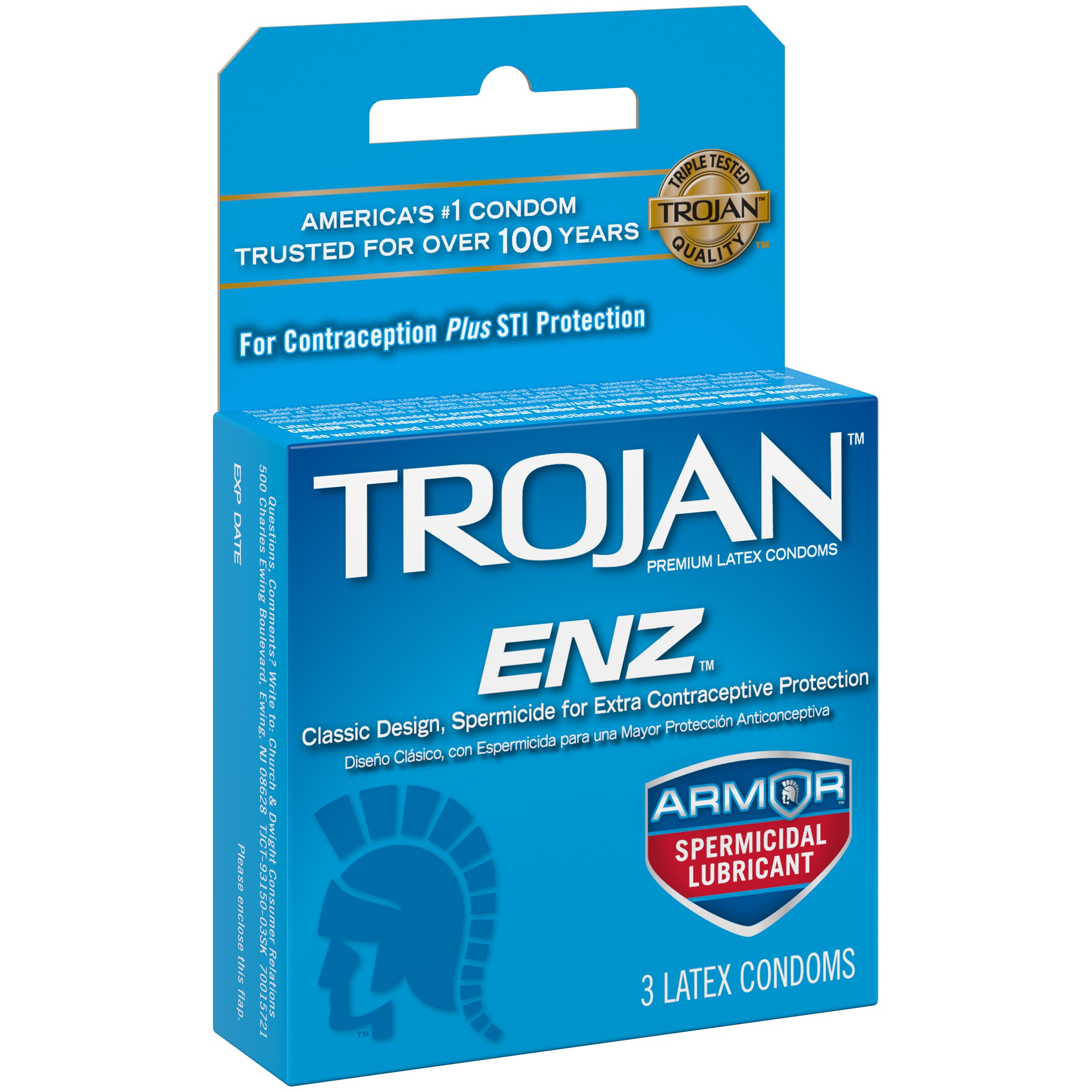 Trojan ENZ Lubricated Latex Condoms - 3 ct