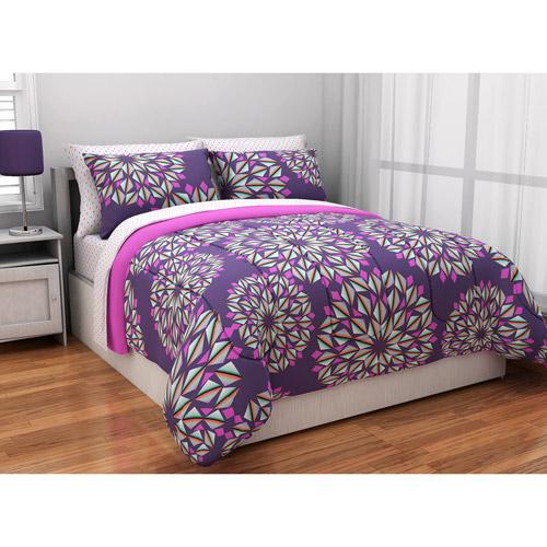 latitude reversible complete bedding set purple