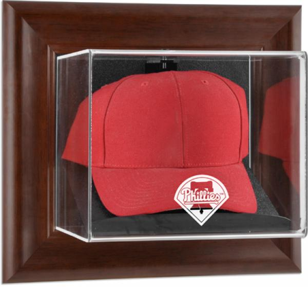 MLB - Philadelphia Phillies Framed Wall Mounted Logo Cap Display Case