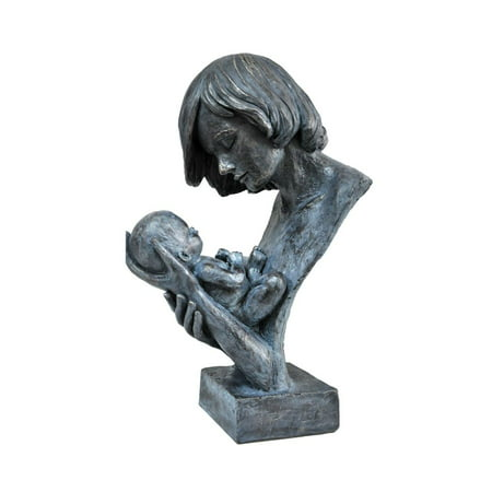 Women Holding Baby in Loving Hands Bust Sculpture in Patina Finish by Urban (Baby Sculpture)