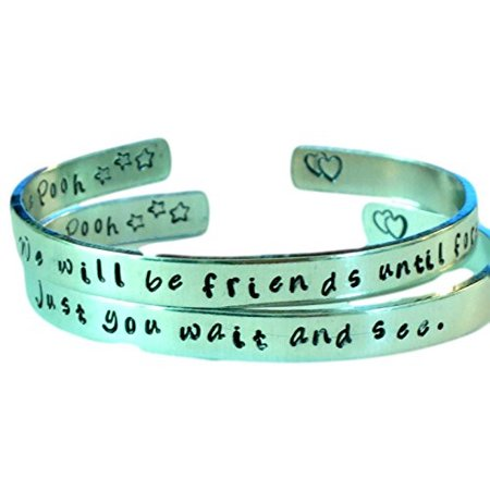 Personalized Winnie the Pooh Quote Bracelets - Friendship Bracelets - We Will... - Personalized Slap Bracelets
