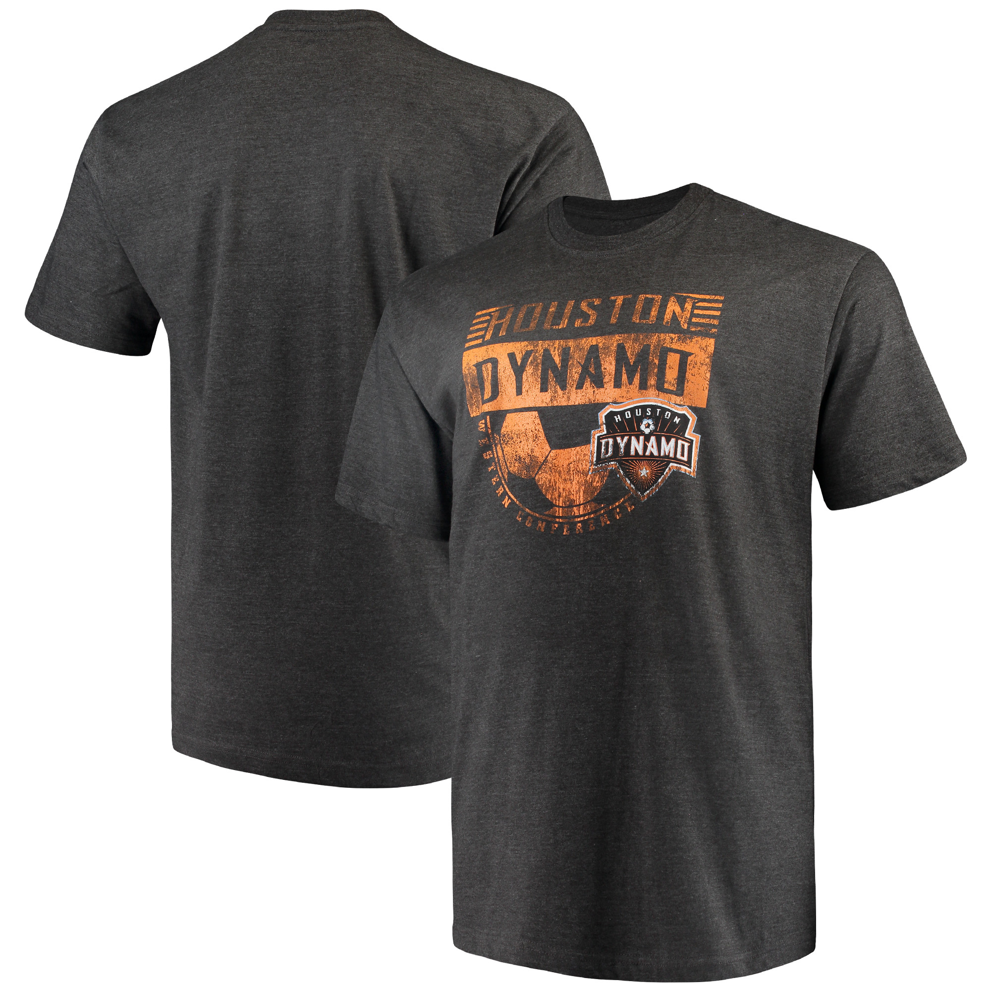 Houston Dynamo Majestic Big & Tall Every Minute T-Shirt - Charcoal