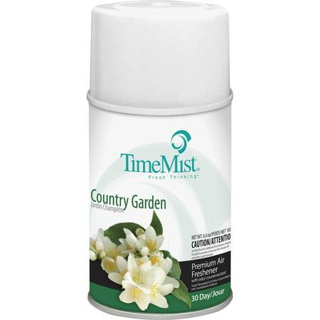 TimeMist, TMS1042786CT, Metered Dispenser Country Garden Refill, 12 / Carton, (9000 Metered Aerosol Dispenser)