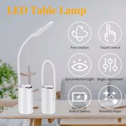 Table Lamp, Touch Sensor Night light Bedside Lamps, 140 Lumens Stepless Dimming Fully Adjustable Long Arm Touch Sensor Switch, for Sofa/Desk Reading, Living Room, Bedroom