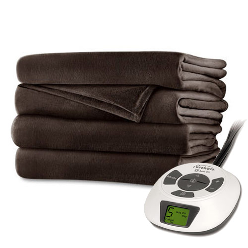 Sunbeam RoyalMink Electric Heated Blanket Twin Full Queen...