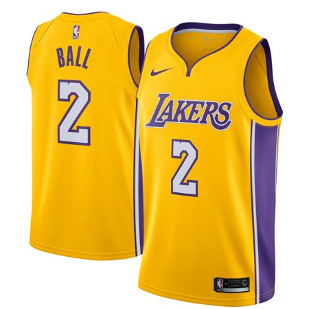 more photos 4ced2 4f8b1 Lonzo Ball Los Angeles Lakers Nike Swingman Jersey Yellow - Icon Edition