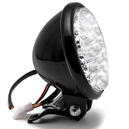 "Krator 5"" Black LED Headlight with Light Mounting Bracket for Harley Davidson Sportster Nightster Roadster 1200 - image 6 of 7"