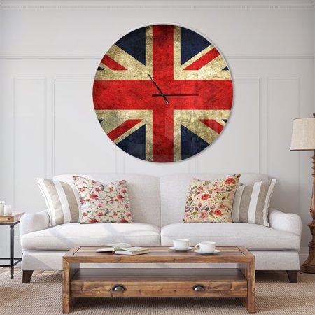 DesignArt Vintage UK Flag Large Wall Clock - image 2 de 2