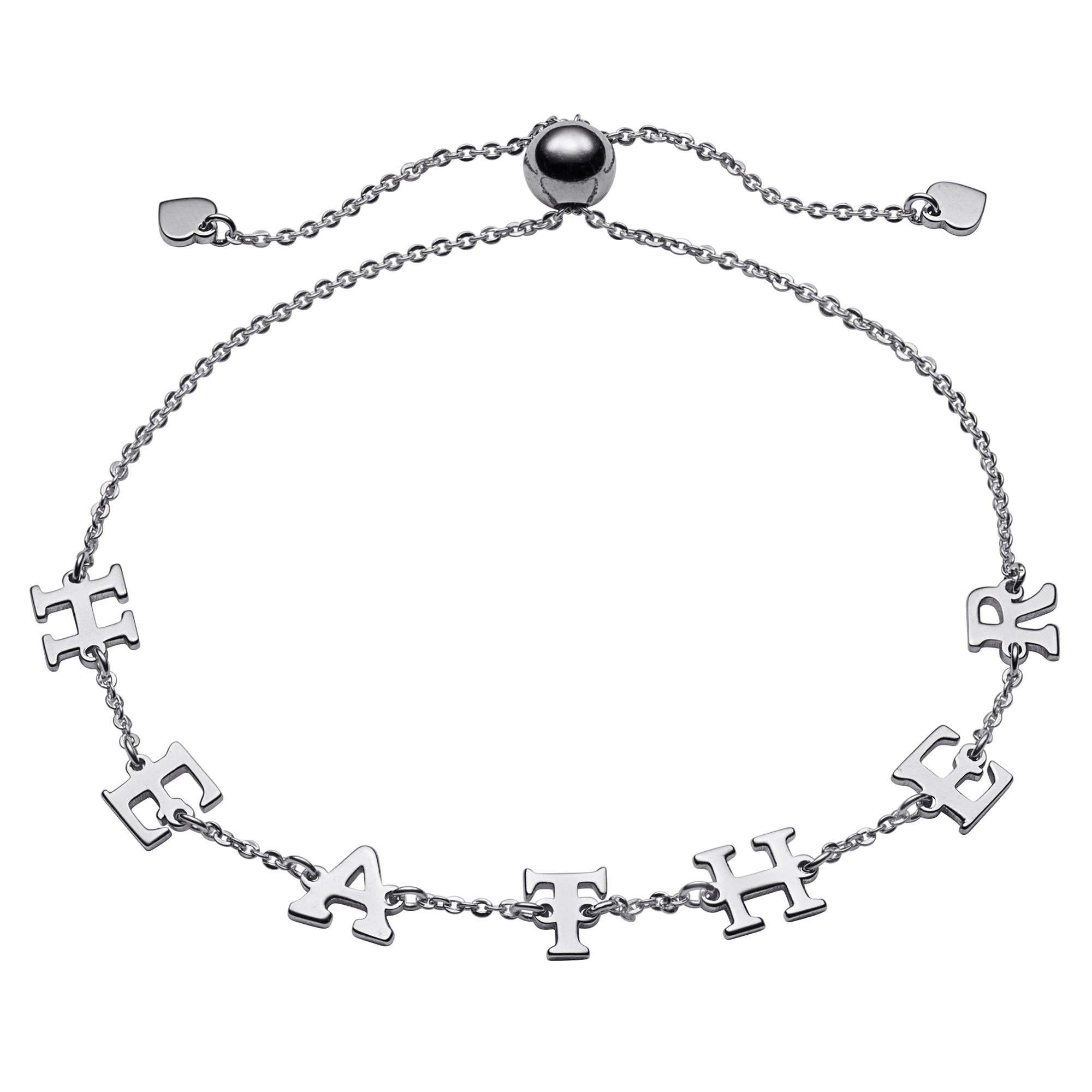 Personalized Women's Sterling Silver or 14kt Gold over Silver Adjustable Name Bracelet