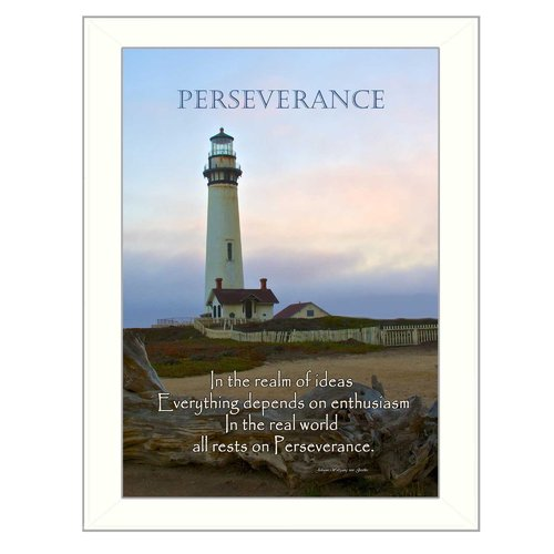 Trendy Decor 4U 'Perseverance' Framed Graphic Art Print