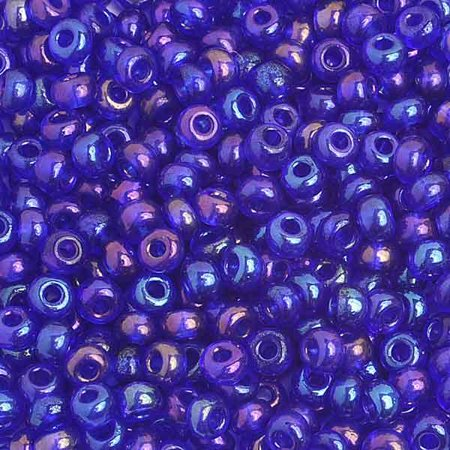 Navy Blue Beads (6/0 Navy Blue Iris Glass Seed Beads 40)