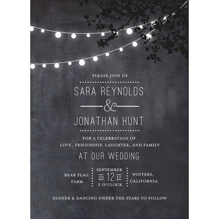Wedding Glow Standard Wedding Invitation](Bonfire Invitation)