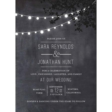 Wedding Glow Standard Wedding Invitation