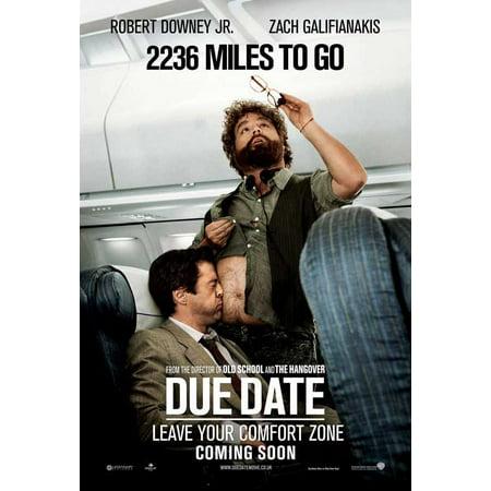 Due Date POSTER Movie UK B Mini Promo - Halloween Date Uk